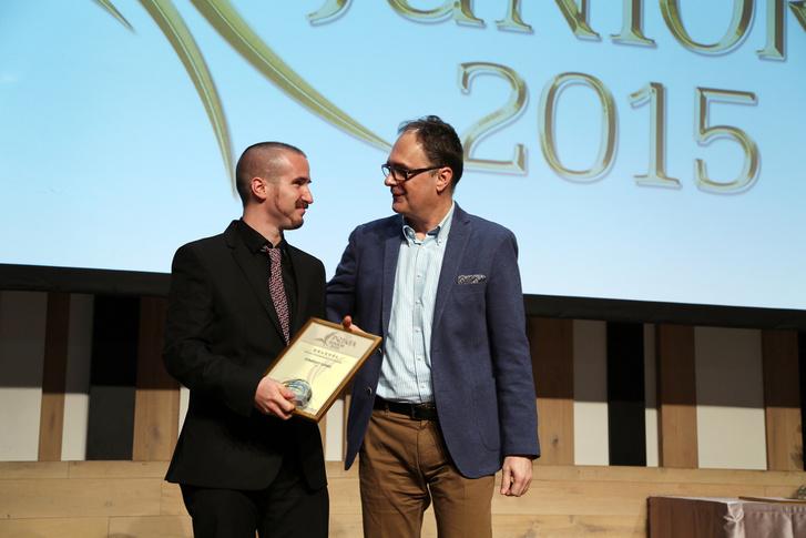 Dömölky Dániel és Káel Csaba a 2015-ös díjátadón