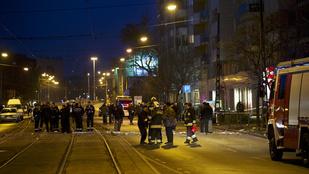 Két rendőr életveszélyesen megsérült a Teréz körúti robbanásban