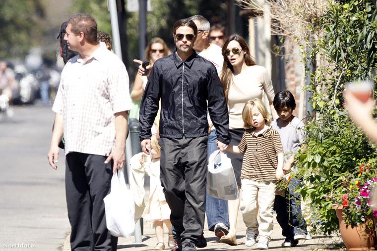 Pitt és Jolie családostul, korábban