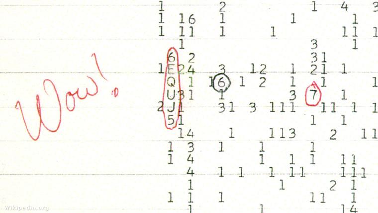A világűrből származó Wow! signal-t, vagyis a Hűha! jelet 1977