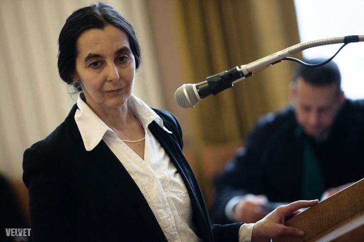 Geréb Ágnes egy korábbi tárgyaláson