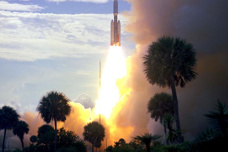 A Viking–1-et a Cape Canaveral légi bázisról lőtték fel majdnem egy évvel megérkezése előtt, 1975. augusztus 20-án, egy Titan IIIE-Centaur hordozórakétán