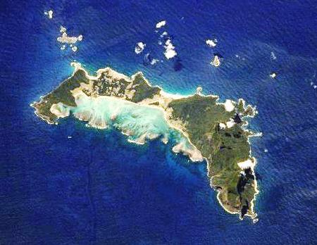 A Lord Howe sziget a NASA műholdképén