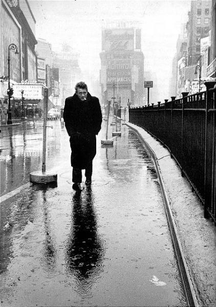 James Dean in Times Square, New York, 1955