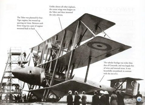 Napier-Lion motoros repülőgép 1919-ből