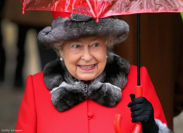 A brit királynő, II. Erzsébet.