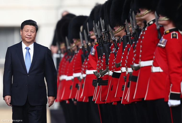 A kínai elnök, Xi Jinping látogatása Londonban.
