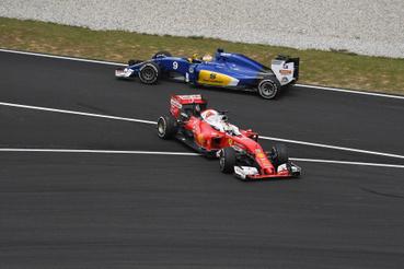 Sebastian Vettel és Marcus Ericsson