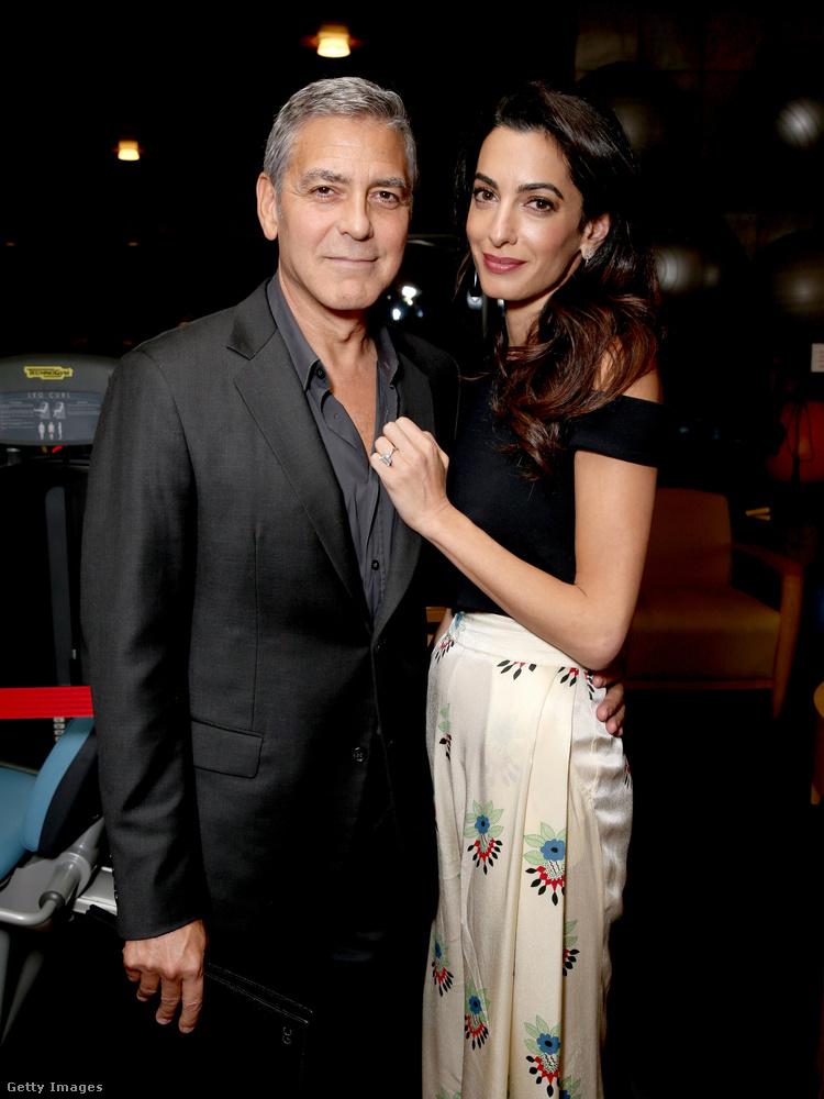 Az eddig sem volt kérdés, hogy a Clooney házaspár igen magas esztétikai együtthatóval rendelkezik, így tulajdonképpen minden megjelenésük képre kívánkozik.