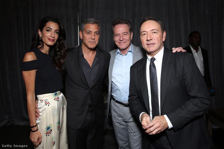 Míg Bryan Cranston kihasználja a Clooney házaspár fényét, Kevin Spacey igyekszik alanyi jogon előtérbe kerülni