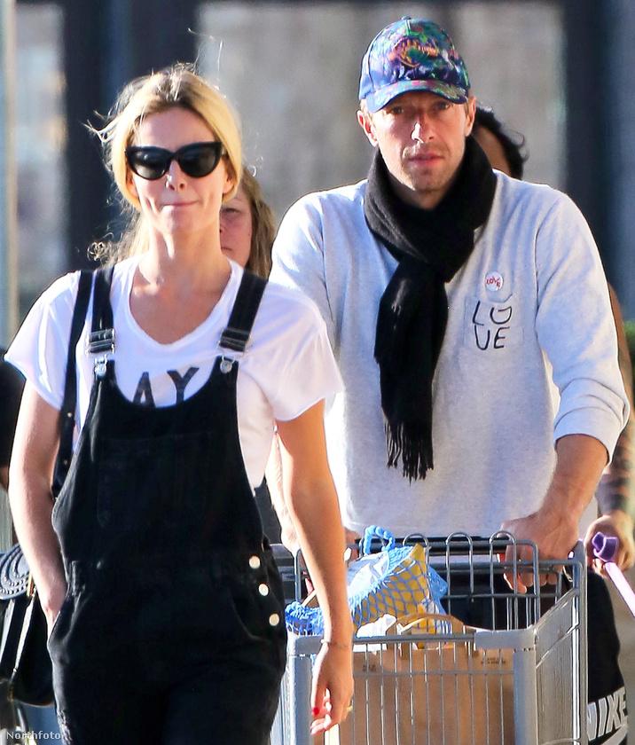 Chris Martint, a Coldplay énekesét, és barátnőjét, Annabelle Wallis színésznőt a hétvégén, bevásárlás közben fotózták le