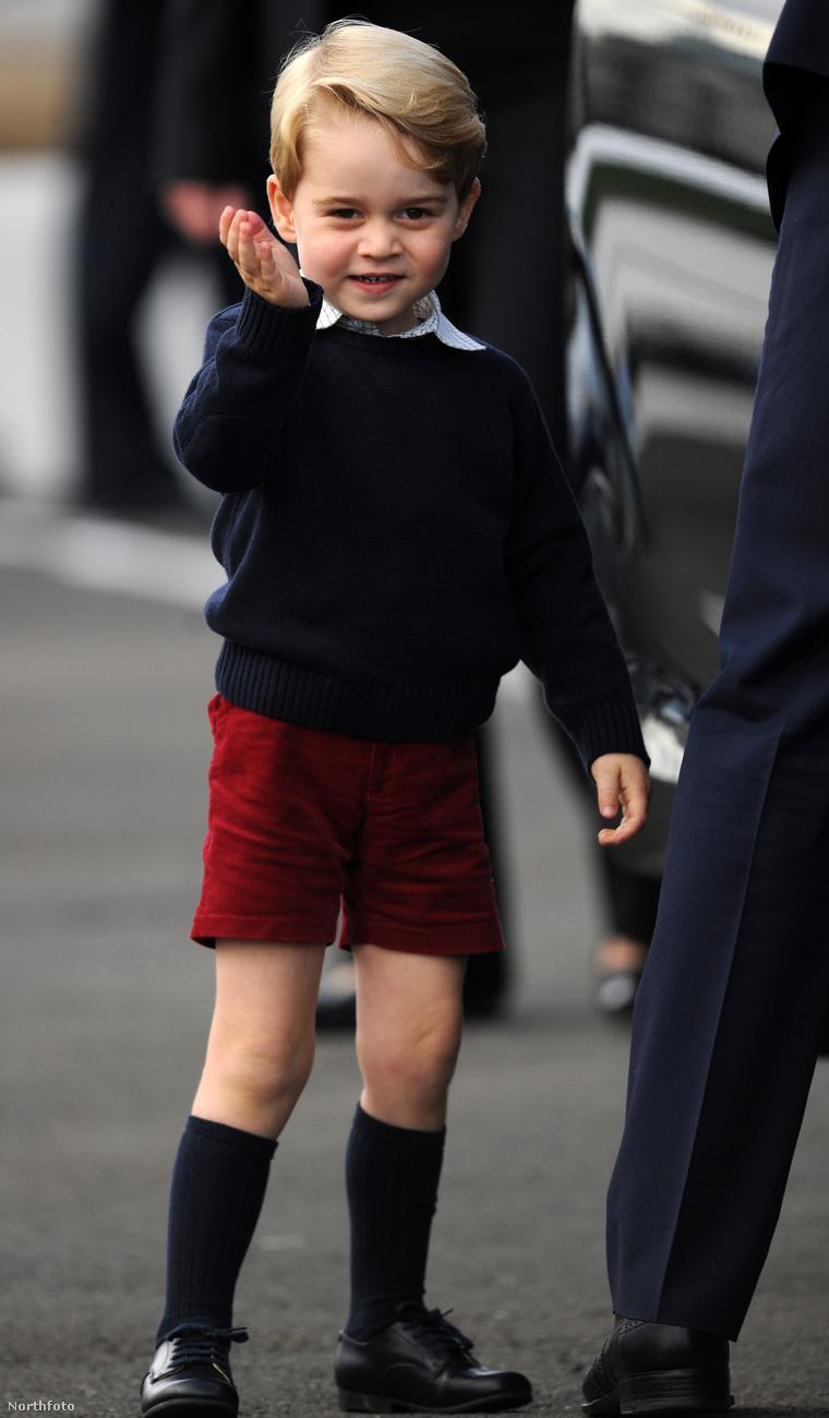 György herceg még mindig a világ legcukibb 3 évese...