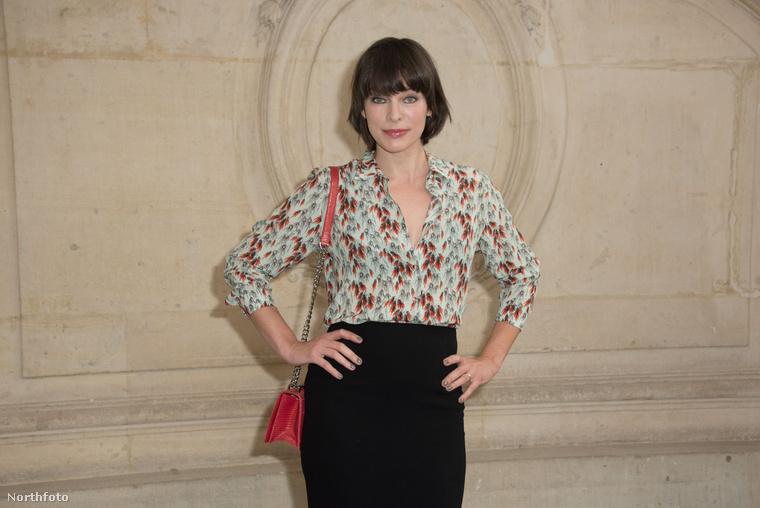 Milla Jovovich egy fokkal elegánsabb volt, de azért ő sem vitte túlzásba.