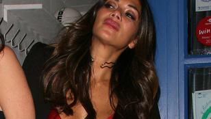 Nicole Scherzinger arcán a felelőtlen alkoholfogyasztás jelei mutatkoztak