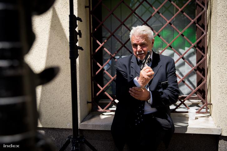 Oszter Sándor a Viszkis c. film forgatásán.
