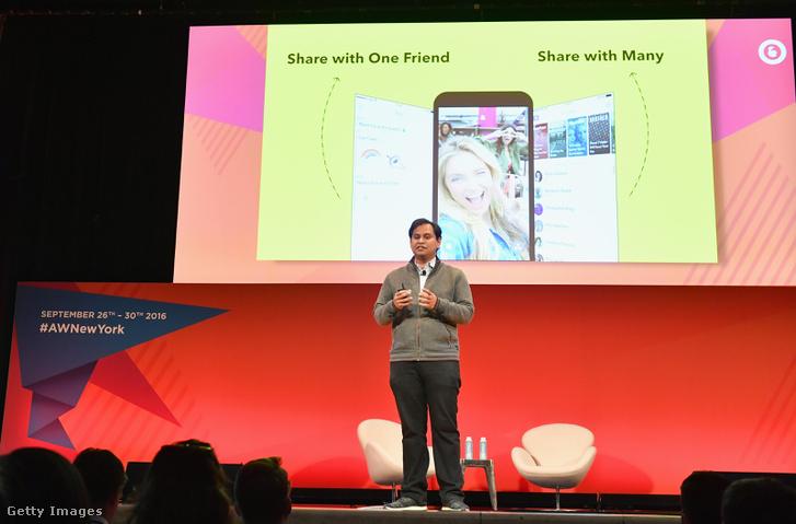 Imran Khan Snapchat-főnök a szeptemberi Adwertising Week-en vázolta a cég terveit New Yorkban