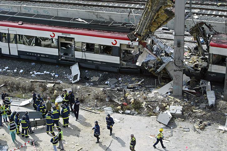 191 ember meghalt és 1800 megsérült a 2004-es madridi összehangolt pokolgépes merényletsorozatban