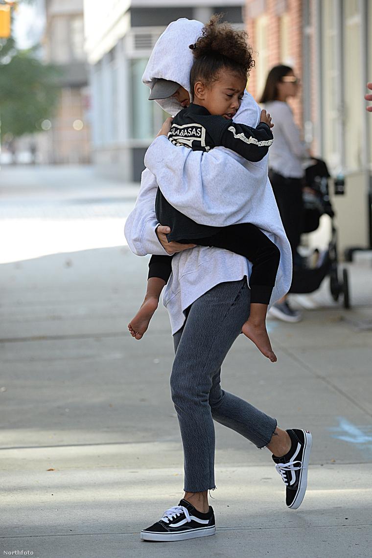 Kim Kardashian kislányával.