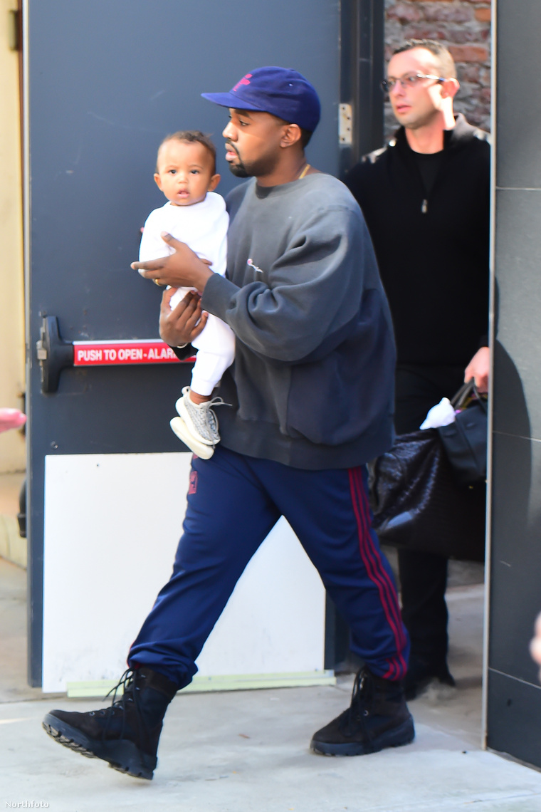 Kanye West és fia.