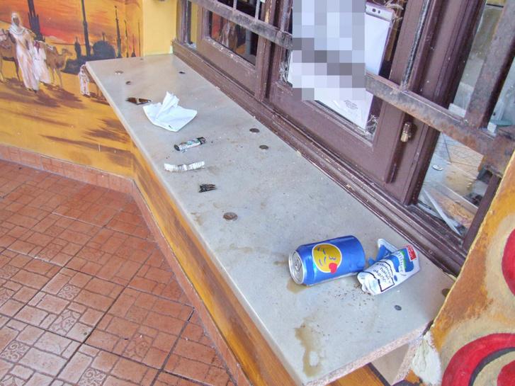 A helyszín és a papír (forrás: police.hu)