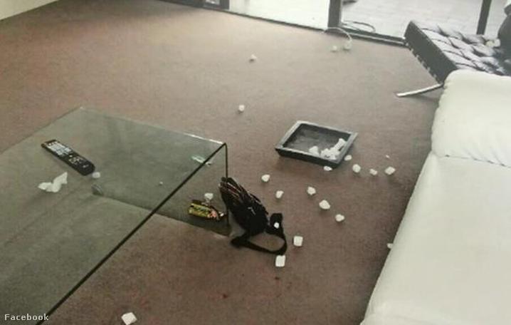 Így nézett ki a lakás a tragédia után