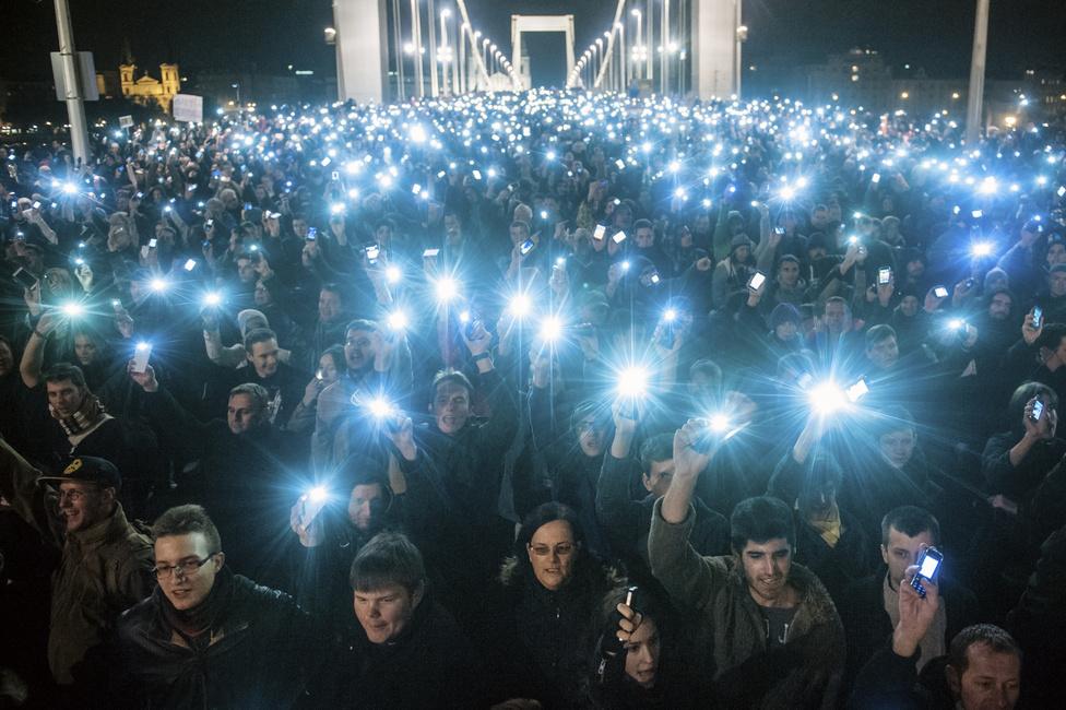 Netadó tüntetés, 2014