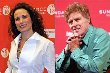 Andie McDowell és Robert Redford a Sundance megnyitóján