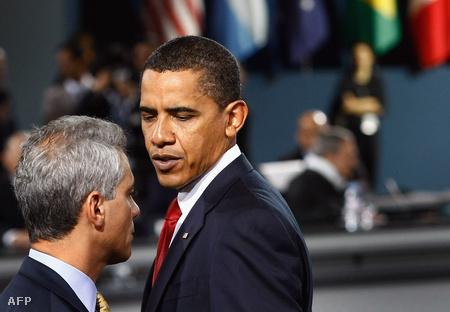 Obama és kabinetfőnöke Emanuel Rahm