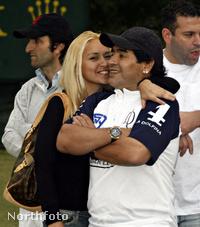 Diego Maradona és barátnője, Veronica Ojeda