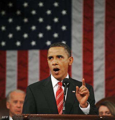 Barack Obama a kongresszus előtt (Fotó: Tim Sloan)