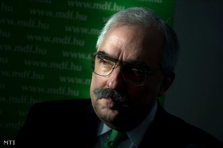 Bokros sajtótájékoztató az MDF választási programjának vitaanyagáról Fotó: Kollányi Péter