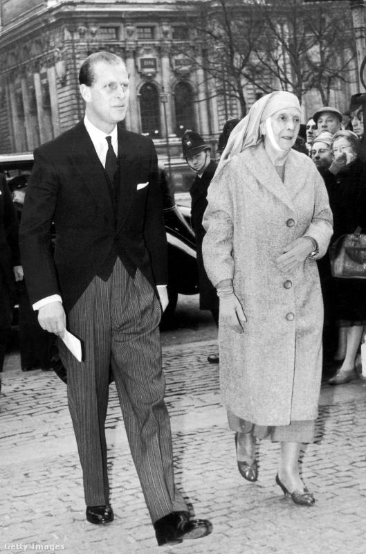 Alíz hercegnő és fia, Fülöp herceg 1960-ban