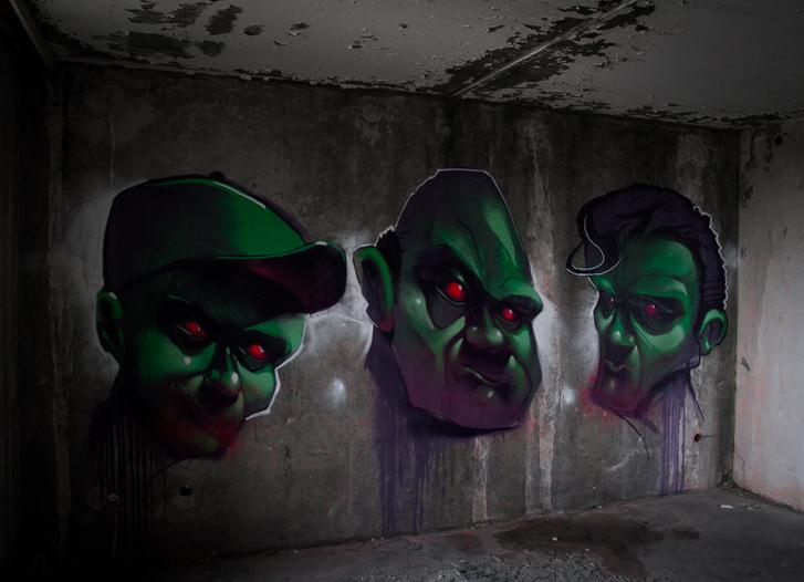 Igazán kedves, jó hangulatú graffiti