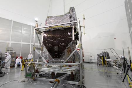 A műhold még a NASA-laborban (Fotó: NASA)