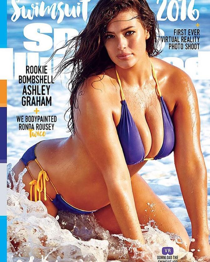 Ashley Graham akkor lett igazán híres, mikor a 2016-os Sports Illustrated bikinis számának címlapján virított.