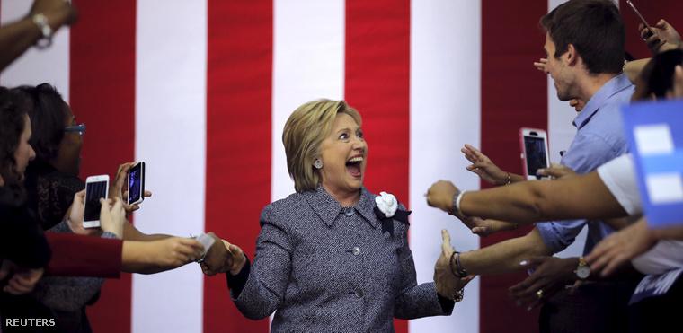 Hillary Clinton nagyon szeretne nyerni novemberben.
