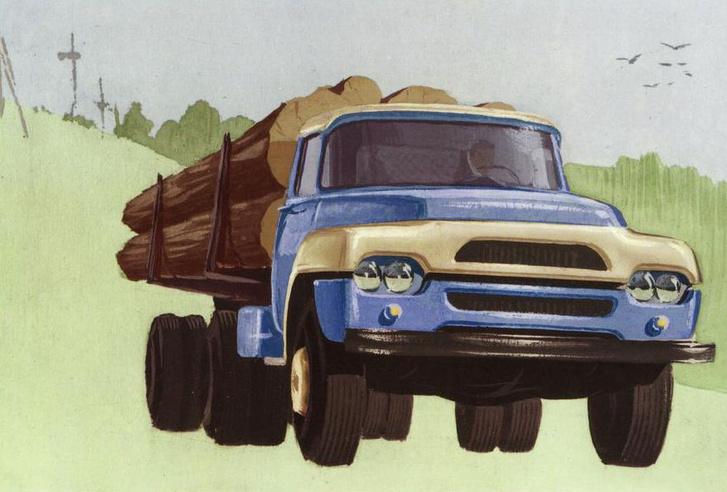 A ZiL-130 rajzai, ahogyan Sabo elképzelte...