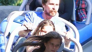 Christian Bale és lánya így nem élvezi Disneylandet