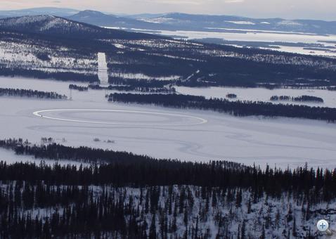 Tesztpálya a tó jegén