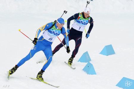 Björn Ferry (balra) és Vincent Jay (jobbra) (Fotó: Don Emmert)