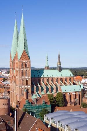 Luebeck-St Marien vom Turm von St Petri aus gesehen-20100905