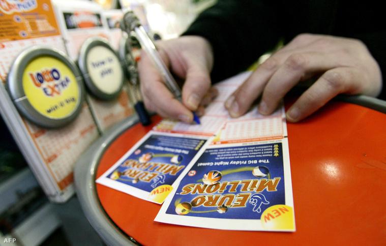 Az EuroMillions lottószelvénye