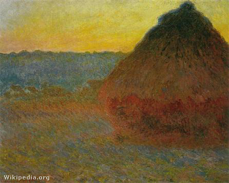 1290 Grainstack in the Sunlight, 1891, Oil on Canvas, Private Co