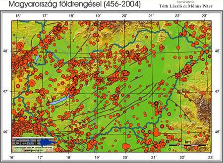 Forrás: GeoRisk Földrengéskutató Intézet