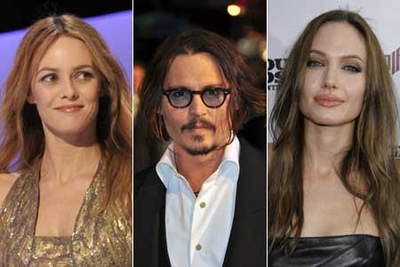 Vanessa Paradis, Johnny Depp és Angelina Jolie