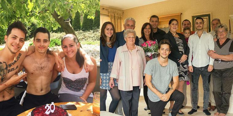 A családi életébe ritkán enged betekintést: itt öccse és húga látható, úgy tűnik a gének jól összejöttek