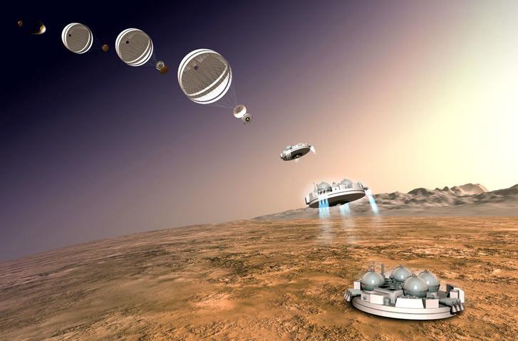 A Schiaparelli űrszonda landolásának modellje