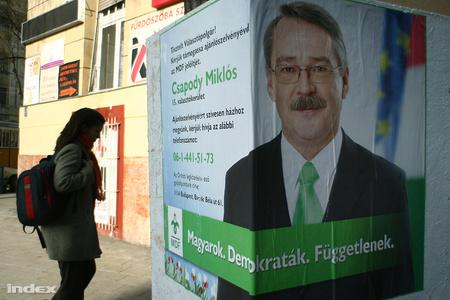 Csapody Miklós választási plakátja