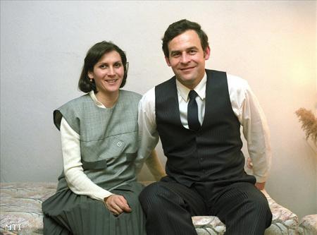 Tőkés Edit és Tőkés László református lelkész 1990-ben