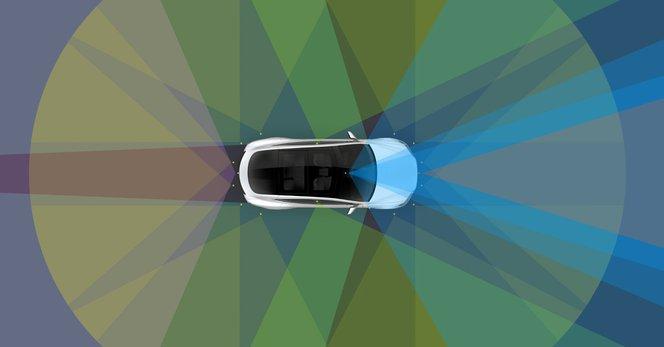 A Tesla Autopilot a költséghatékonyság miatt nem használ lidart, de a 8 kamera és a 12 ultrahangos szenzor sem lehet olcsó. Fotó: Tesla